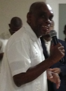 Father Joseph speaking during the celebration
